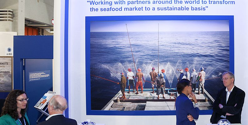 Image of Marine Stewardship Council stand at Seafood Global Expo 2013