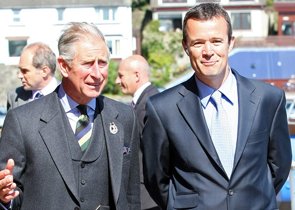 HRH Prince Charles with MSC CEO Rupert Howes