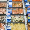 Assortment of fish at fish counter in Germany