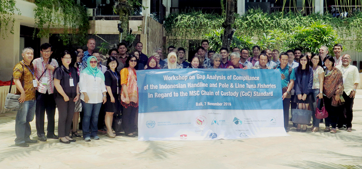 Participants at MDPI MSC Chain of Custody workshop in Bali, November 2016