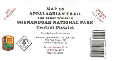 Shenandoah National Park Central District Map 10 Trout Fly Fishing Murray's Fly Shop VA