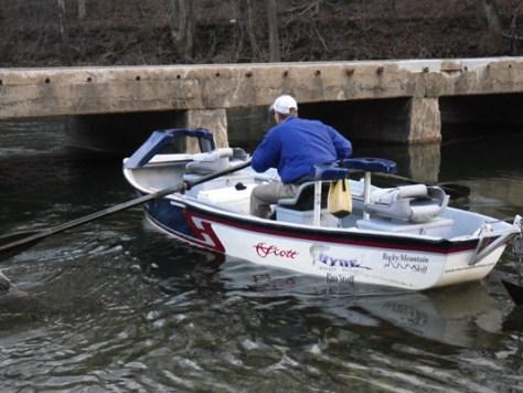 Jeff Murray Boat Smallmouth Bass Fly Fishing Murray's Fly Shop VA