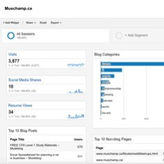 My Google Analytics Dashboard