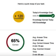 First Practice Exam Score