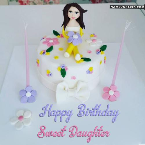 Birthday Wishes Cake Png Happy Birthday Daughter Cake - Download & Share