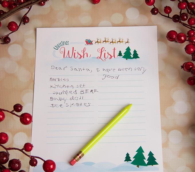 Printable Christmas Wish List - - printable santa wish list