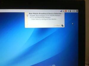 usb  3G modem detected..