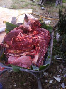 daging di bawa..
