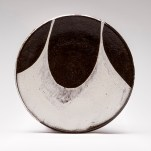 "Lindsay Rogers Height: 0.75"" Diameter: 7.5"" Stoneware, Electric fired to Cone 6, 2014 Sorry, this plate is already SOLD"