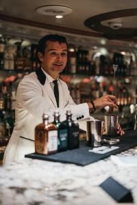 Erik Lorincz taking over the bar on the ship