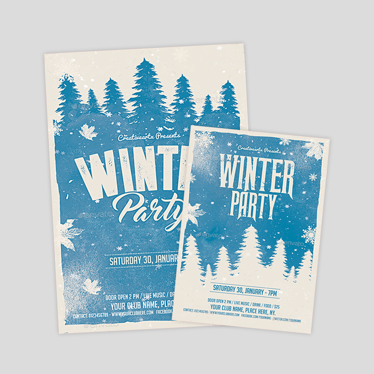 Neoxica \u2022 10+ Best Winter Flyer Design  Templates