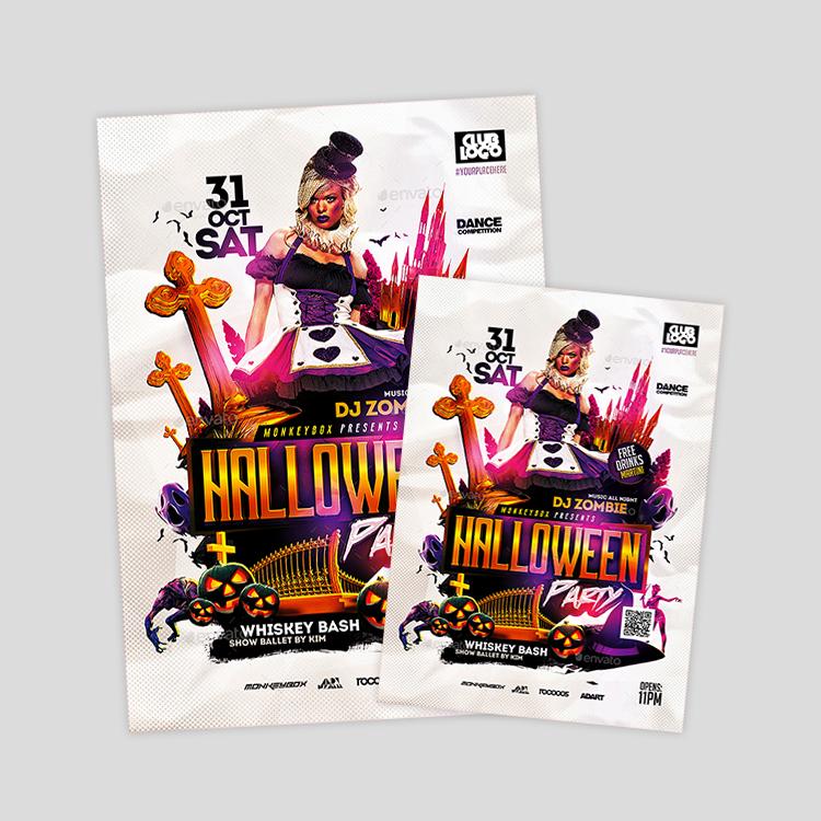 Neoxica \u2022 Top 12 Halloween Flyer Design  Templates
