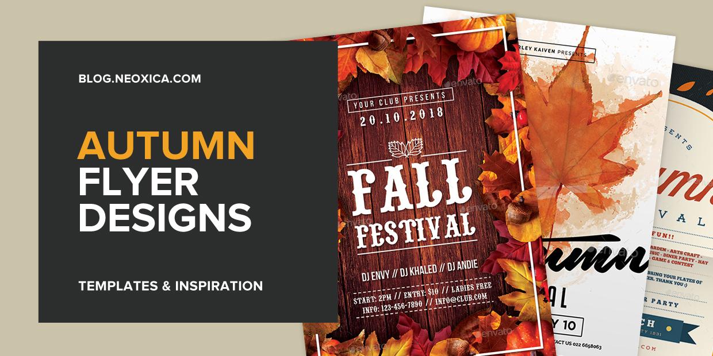 Neoxica \u2022 15+ Autumn Flyer Designs  Templates