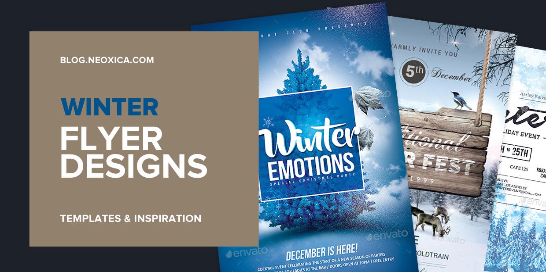 Neoxica \u2022 10+ Best Winter Flyer Design  Templates