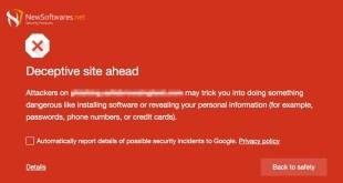 Google Warning users of deceptive ads