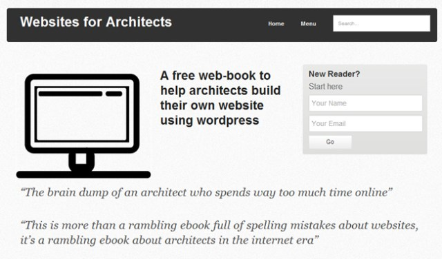 Websites for architects using WordPress