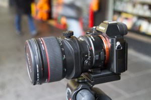 Sony A7r with Canon tilt shift lens