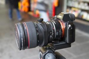 Sony A7r with Canon tilt shift lens