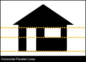 Horrizontal parrallel lines architectural photography