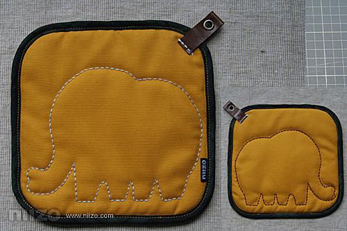 收邊條的車縫法 - 大象隔熱墊