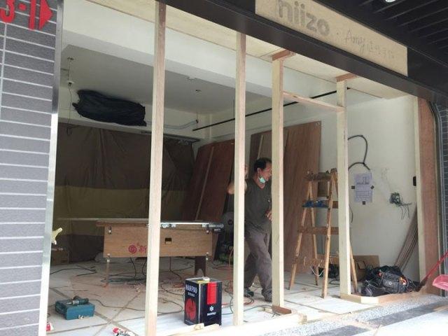 木工門面放樣及主框