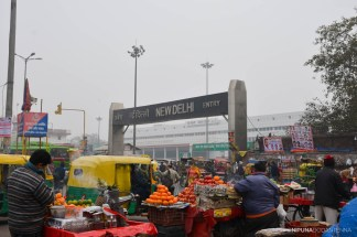 Entrance to New Delhi Railway Station