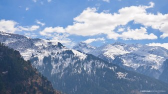Snowy mountain tips
