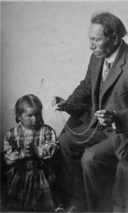 Black Elk teaching with rosary (Indian Sentinel, pub at http://bit.ly/BlackElk_Rosary)