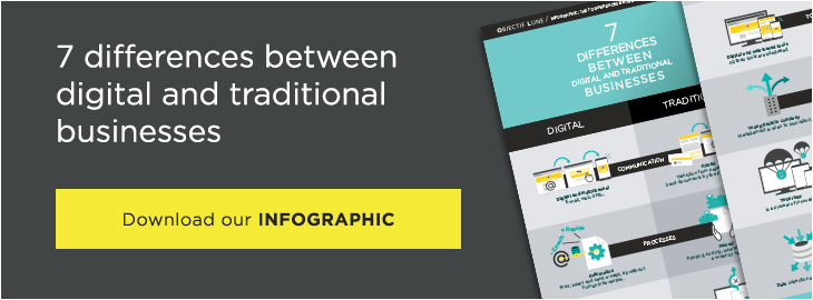 7 differences betweent digital and traditional businesses