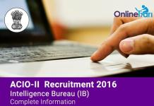 IB-ACIO-II-Recruitment-2016