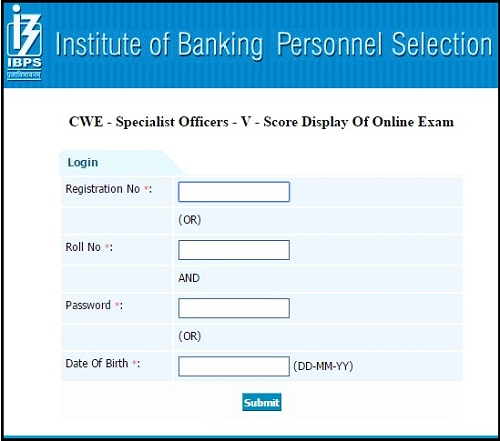 IBPS-SO-Download-Score-Card-2016