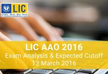 LIC AAO Exam Analysis 2016 (1)