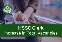 HSSC Clerk Recruitment 2016 Total Vacancies Increased