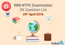 RRB-NTPC-GK-Exam-Questions-29-April-2016