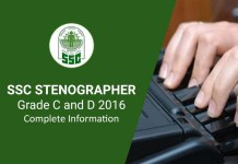 SSC Stenographer Grade C and D Online Registration Open Apply Now