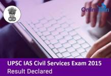 UPSC IAS Civil Services Examination Result Declared