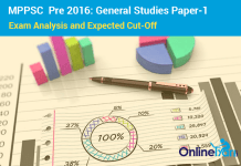 MPPSC Prelims Exam Analysis (GS-1) & Expected Cut Off 2016