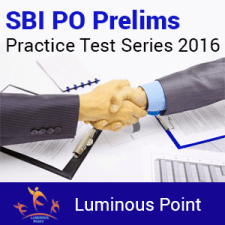 SBI PO Mock Test Series Luminous Point
