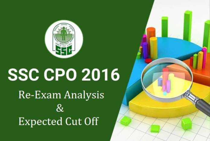 SSC CPO Exam Analysis Phase 1 (Re-Exam) 5 June 2016