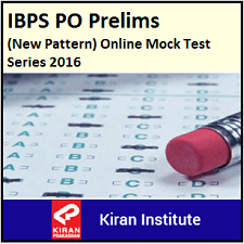 IBPS PO Mock Test Series 2016 KI