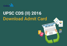 UPSC-CDS-II-Admit-Card-2016