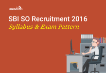 SBI SO Syllabus Exam Pattern 2016