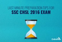 Last Minute Preparation Tips for SSC CHSL 2016 Exam