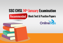 Recommended SSC CHSL 14th Jan Mock Test Series, Practice Papers