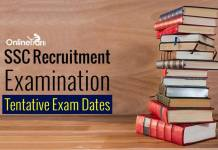 SSC Recruitment Examination Dates: Tentative Dates