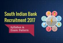 South Indian Bank Syllabus Exam Pattern for Clerk, PO Posts