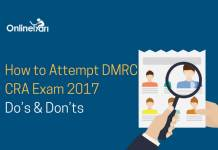 How to Attempt DMRC CRA Exam 2017: Do's & Don'ts