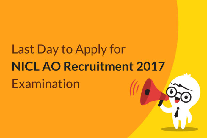 Last Day to Apply for NICL AO Recruitment 2017