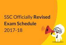 SSC Officially Revised Exam Schedule 2017-18 Released!