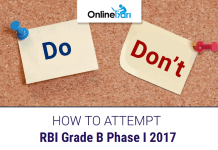 How to Attempt RBI Grade B Phase 1 Exam 2017: Do's & Don'ts